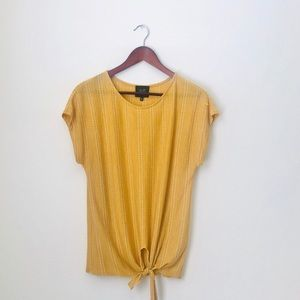 W6•Yellow Front Tie Shirt